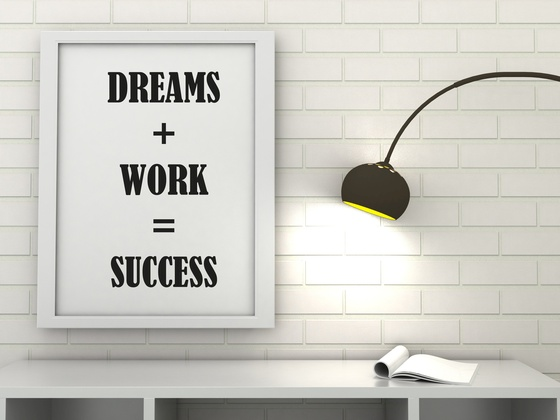 Success in maths is hard work image